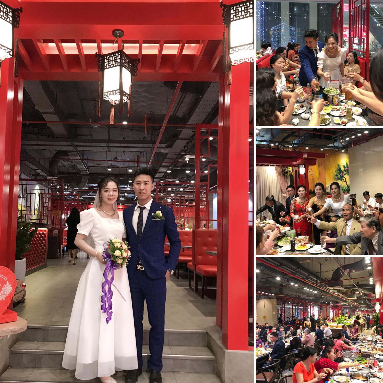 Đám cưới của cô dâu Hồng Nhung và chú rể Văn Thìn